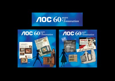 AOC 60 Years of Innovation Wall Signage