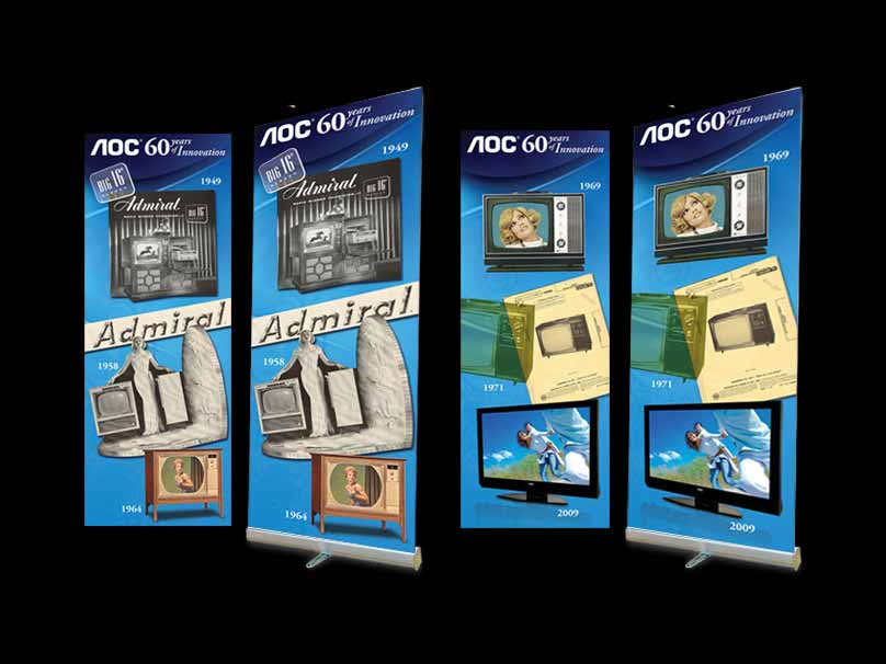 AOC 60 years of Innovation Timeline Banners